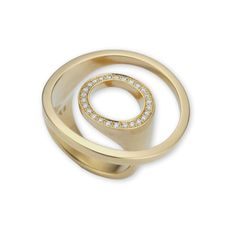 Angela Hubel - Gold Diamond Atoll Ring - ORRO Contemporary Jewellery Glasgow - www.orro.co.uk