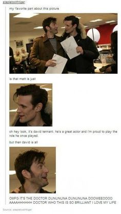 David Tennant the ultimate fanboy.