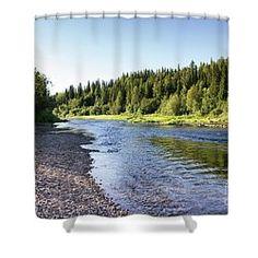 Summer Landscape Shower Curtain by Svetlana Svetlanistaya  #Svetlanistaya #Landscape #Summer #Nature #ShowerCurtain #HomeDecor #InteriorDesign