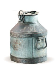 Passau Milk Can made by Rustic Finds . Old Milk Cans, Milk Jugs, Milk Crates, Milk Bottles, Antique Milk Can, Flea Market Style, Antique Iron, Beach Jewelry, Joss And Main