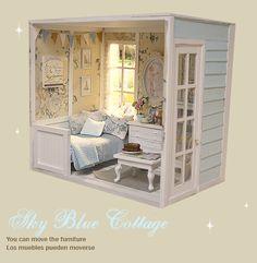"Diorama "" Blue Sky "" Miniature Dollhouse OOAK by Nerea Pozo Keera | eBay"