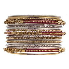 Istanbul Bangle Set Red - $28 USD - If only these would fit my wrists.. :(