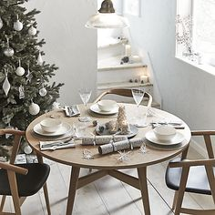 Beautiful silver themed Christmas tabletop decorations from John Lewis to create a festive atmosphere