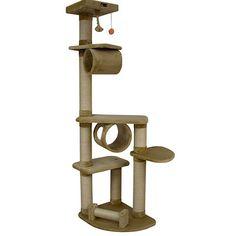 Armarkat Cat Jungle Gym Pet Furniture Condo Scratcher with Faux Fur |