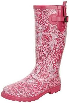 Trespass Womens Candis Welly | The Candis wellies from Trespass are a great and comfortable boot to wear when walking the dogs, attending festivals, or even doing general work on the farm or at the yard. With a waterproof build and a stylish exterior, you'll be looking and feeling great when you're wearing these absolutely fantastic wellies | #wellies #welly #pink #UK #wonderfulwellies | www.wonderfulwellies.co.uk