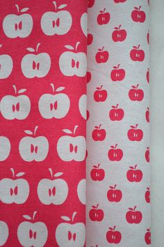 You are the apple of my eye. APPLES hand printed fabric from BlueberryAsh on @Etsy