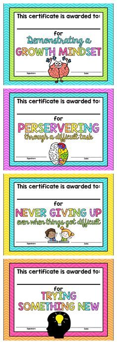 Growth Mindset Certificates *FREE*