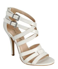 Loving this White Cutout Enzo Sandal on #zulily! #zulilyfinds