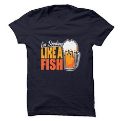 Im Drinking like a Fish. - #gift #thank you gift. WANT  => https://www.sunfrog.com/Funny/Im-Drinking-like-a-Fish.html?id=60505