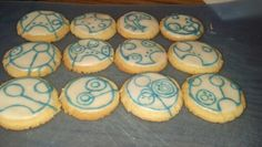 cute cookies with writing in Gallifreyan