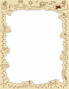 Free Page Borders and Frames Pirate Day, Pirate Theme, Borders For Paper, Borders And Frames, Border Templates, Page Borders, Treasure Maps, Paper Frames, Note Paper