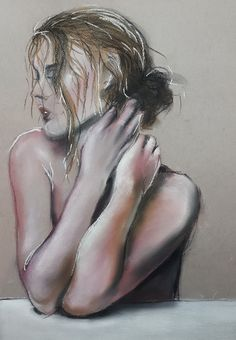 In thoughts - pastel (2021) My Arts, Pastel, Thoughts, Artwork, Painting, Cake, Work Of Art, Auguste Rodin Artwork, Painting Art