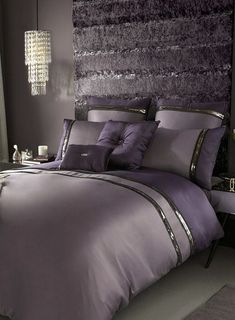 Purple Bedroom Ideas: How to Decorate Your Bedroom With PurpleYou can find Purple bedrooms and more on our website.Purple Bedroom Ideas: How to Deco. Silver Bedroom, Glam Bedroom, Shabby Chic Bedrooms, Shabby Chic Homes, Shabby Chic Furniture, Bedroom Interiors, Trendy Bedroom, Purple Bedrooms, Purple Master Bedroom