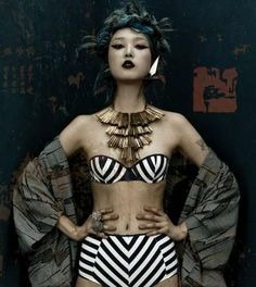 Asian-Themed 90s Editorials - The Dossier Journal Spring/Summer 2012 Poon Photoshoot is Grungy (GALLERY)