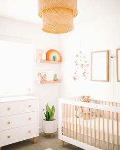 Baby Allens nursery reveal is live on HappilyEverAllen.Co We hope you enjoy this post as much as we enjoyed putting her room together Big thanks to LexiLaycockInteriors for bringing her nursery to life ltkhome ltkbump ltkbaby liketkit liketoknow. Baby Nursery Decor, Baby Bedroom, Nursery Neutral, Nursery Themes, Girl Nursery, Project Nursery, Natural Nursery, Neutral Nurseries, White Nursery