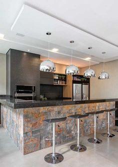 trendy ideas for kitchen open modern cuisine Kitchen Room Design, Outdoor Kitchen Design, Modern Kitchen Design, Kitchen Interior, Home Interior Design, Kitchen Decor, Kitchen Remodel Cost, Diy Kitchen Cabinets, Cuisines Design