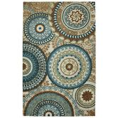 Found it at Wayfair - Strata Teal Forest Suzani Rug  If we do gray and seafoam in the living/dining combo
