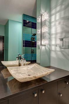 See How The George Kovacs Jewel Box Bath Bar Light Creates Stunning And Sparkle In