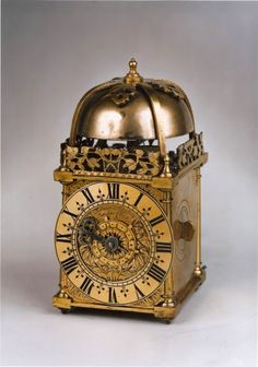 A rare William and Mary period miniature striking lantern clock by this well-known apprentice of Joseph Knibb. (1690)