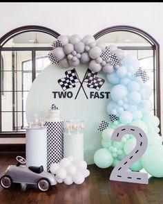 Baby Boy Birthday Themes, 2nd Birthday Party For Boys, Second Birthday Ideas, Race Car Birthday, Race Car Party, Cars Birthday Parties, Birthday Party Decorations, Car Themed Birthday Party, Birthdays
