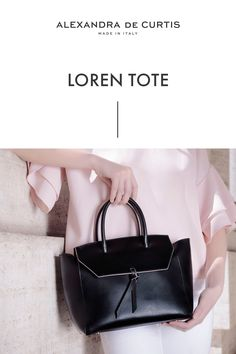 Are you looking for a designer leather handbag? Click through to check out the Loren Tote, handmade in Italy with smooth Italian Leather Handbags, Designer Leather Handbags, Black Leather Handbags, How To Make Handbags, Purses And Handbags, Best Work Bag, Italian Street, Work Tote, Leather Pouch
