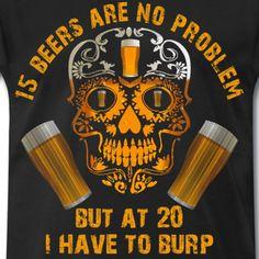 Bier trinken saufen feiern Party rülpsen Malle - Männer Premium T-Shirt   sprueche-koenig Mall, Shops, Drinks, Party, Luigi, Drink Beer, Holiday Travel, Alcohol, Love