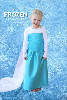 Make your own Elsa dress with these easy instructions!