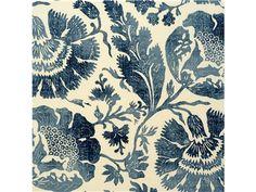 G P & J Baker POPPIES INDIGO/ R1375.1 - Lee Jofa New - New York, NY, R1375.1,Lee Jofa,Print,0015,Blue,Up The Bolt,Floral Large,Multipurpose,Thailand,Yes,G P & J Baker,POPPIES INDIGO/