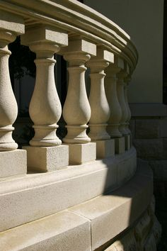 Stone Balustrade - Menzer McClure Architects