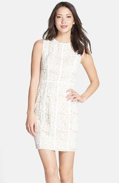 Cynthia Steffe 'Elenora' Lace Sheath Dress available at #Nordstrom