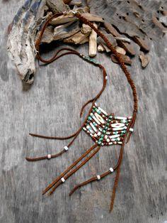 Inspiración bonito collar Nativo americano coraza por Minouchkita