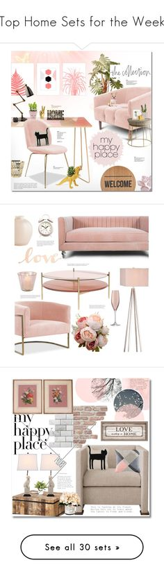 """Top Home Sets for the Week"" by polyvore ❤ liked on Polyvore featuring interior, interiors, interior design, home, home decor, interior decorating, National Tree Company, DENY Designs, Cyan Design and Crystal Art"