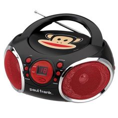 Paul Frank Portable CD Boombox with AM/FM Stereo Radio