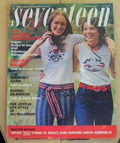 Seventeen February 1971 vintage magazine by AtticEmporium on Etsy