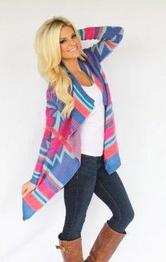 Karlie Multi Color Bright Cardigan