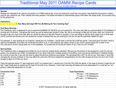 All Menus: Saving & Printing Google Documents Grocery Lists, Recipe Cards & Instructions from Once A Month Mom | OAMC from Once A Month Mom