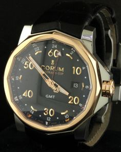 Corum Admiral's Cup 01.0055B SS/18K Rose gold automatic GMT men's watch