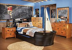 If I ever have a baby boy to dote over and turn into a Disney freak, this would be a great room for him. Disney Pirates 5 Pc Twin Ship Bedroom