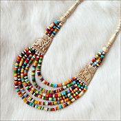 Capas multi-color collar de hueso Yak Bib (Lo... – USD $ 14.99