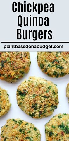 Chickpea Quinoa Burgers If you're looking for a delicious dinner in less than 20 minutes, look no further than this burger. These veggie burgers are so easy and so. This week I. Chickpea Recipes, Veggie Recipes, Whole Food Recipes, Vegetarian Recipes, Healthy Recipes, Recipes For Quinoa, Easy Recipes, Vegetarian Italian, Vegetarian Barbecue