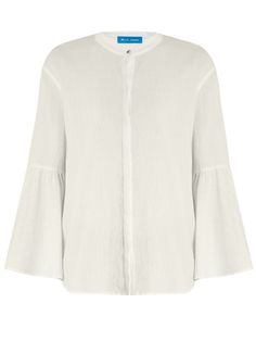 M.I.H JEANS Goldie flared-sleeve top. #m.i.hjeans #cloth #top