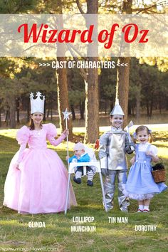 "DIY ""Wizard of Oz"" costumes (Glinda, Tin Man, Dorothy, and Lollipop Munchkin).....plus a fun VIDEO! 