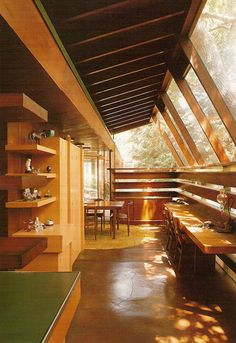 I love John Lautner! Schaffer house in Los Angeles, USA by architect John Lautner Mid-century Interior, Interior And Exterior, Interior Design, Future House, My House, Suppose Design Office, John Lautner, Beton Design, Timber Structure