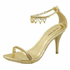 Love this style, especially since the dresses will most likely have very little detail or embellishment. Unfortunately, they have very limited quantities but just to give you an idea.  Amazon.com: Women's Top Moda Dance-5 Gold Fashion Dress High Heel ...