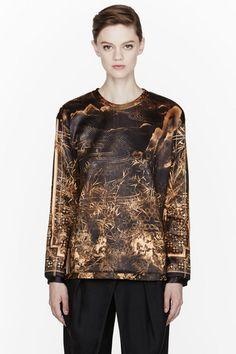 bec1becc91a7fb Gold Printed Crewneck Sweater - Lyst Gold Print