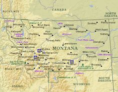 Awesome Map Of Montana Wyoming Idaho Tours Maps In 2019