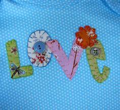 Love onesie by SweetPeaskidskrafts on Etsy, $25.00