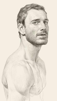 New drawing people faces men sketch 25 Ideas - pencil-drawings Portrait Au Crayon, Pencil Portrait, Portrait Art, Portraits, Portrait Sketches, Drawing Sketches, Drawing Drawing, Drawing Step, Cartoon Sketches