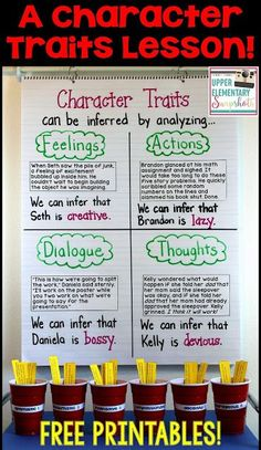 Character Traits: A Lesson for Upper Elementary Students | Upper Elementary Snapshots | Bloglovin'