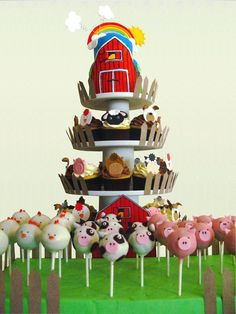 On The Farm baby shower theme. I think i would do just cupcakes though.... - CompareTopTravel.com
